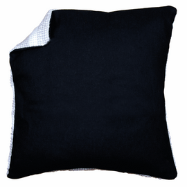 Cushion Back: without Zipper: Black 45 X 45 cm By Vervaco