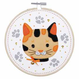 Kitten Felt Craft Kit with Frame by Vervaco