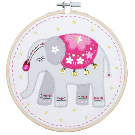 Elephant Embroidery Kit with Ring by Vervaco