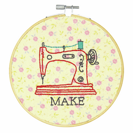 Crewel: Make Embroidery Kit with Hoop By Dimensions