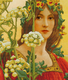 Our Lady of Cow Parsley Printed Cross Stitch Kit By Needleart World
