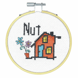 Nut House Counted Cross Stitch Kit with Hoop by Dimensions