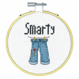 Smarty Pants Counted Cross Stitch Kit with Hoop by Dimensions