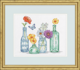 Wildflower Jars Counted Cross Stitch Kit by Dimensions