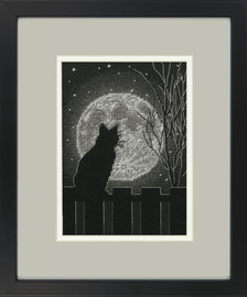 Black Moon Cat Counted Cross Stitch Kit by Dimensions