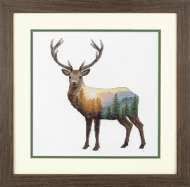 Deer Scene Counted Cross Stitch Kit by Dimensions
