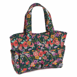 Floral Garden Craft bag Teal by Hobby Gift