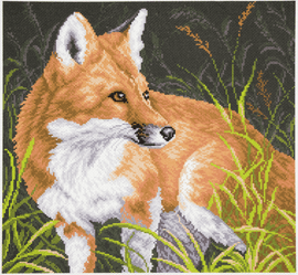 Printed Aida Fabric: Fox by Collection D'Art