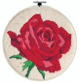 Rose Rouge Long Stitch Kit By Needleart World