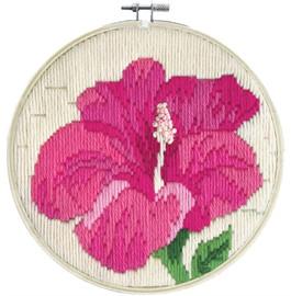 Hibiscus Blush Long Stitch Kit By Needleart World