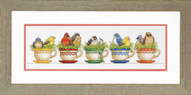 Teacup Birds Counted Cross Stitch Kit By Dimensions