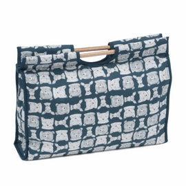 Folkstone Craft Bag with Wooden Handles by Hobby Gift