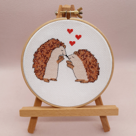 Hedgehog Cross Stitch Kit With Hoop By Sew Sophie