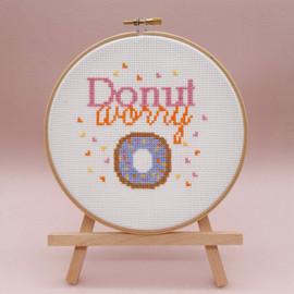 Donut Worry Cross Stitch Kit By Sew Sophie