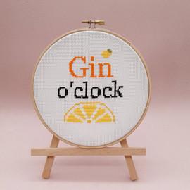 Gin o'clock Cross Stitch Kit By Sew Sophie