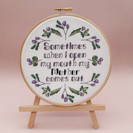 Floral Mother Cross Stitch Kit by Sew Sophie