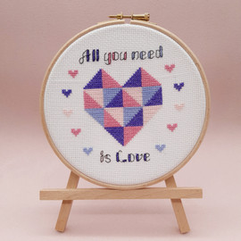 All you need is Love Cross Stitch Kit by Sew sophie