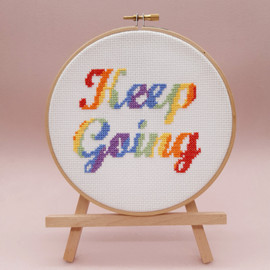 Keep Going Cross Stitch Kit by Sew Sophie