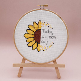 Sunflower Today is a New Day Cross Stitch Kit By Sew Sophie