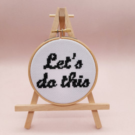 Let's Do This Cross Stitch Kit By Sew Sophie