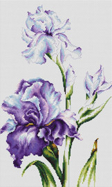 Irises Counted Cross Stitch Kit by Luca-S
