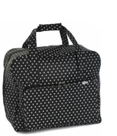 Black Star Matt PVC Sewing Machine Bag by Hobby Gift