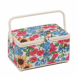 Garden Floral Deep Sewing Box By Hobbycraft