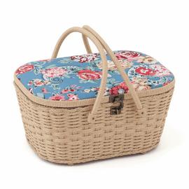 Wicker Basket: Kashmir Rose Sewing Basket