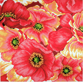 Printed Aida Fabric: Poppy by Collection D'Art