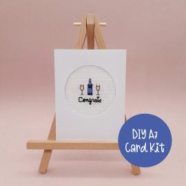 Congrats Celebration Card Cross Stitch Kit By Sew Sophie