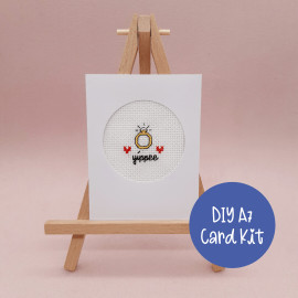 Yippee Engagement Card Cross Stitch Kit By Sew Sophie