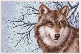 Printed Aida Fabric: Wolf