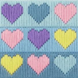 Hearts Long Stitch Kit 1st Kit By Anchor
