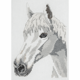 White Beauty Horse Counted Cross Stitch starter Kit by Anchor