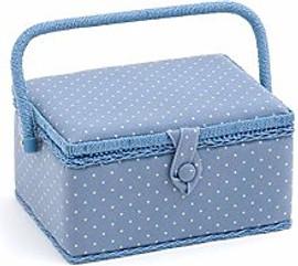Cornflower Mini Polka Dot Sewing Box by Hobby Gift