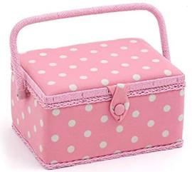 Flamingo Polka Dot Sewing Box by Hobby Gift