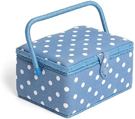 Denim Spot Sewing Box by Hobby Gift
