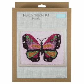 Butterfly Punch Needle Kit by Anchor