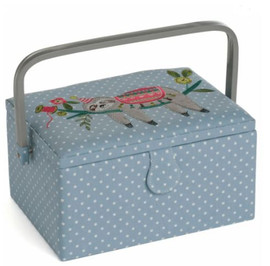 Sloth Embroidered Sewing Box by Hobby Gift