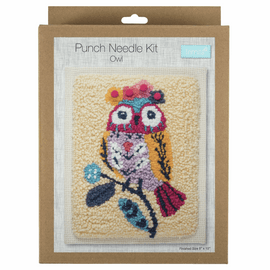 Owl Punch Needle Kit by Anchor
