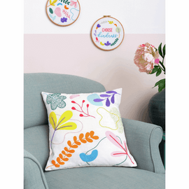 Embroidery Kit: Cushion: Essentials: Ana Clara: Graphic Floral by Anchor