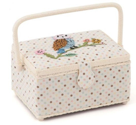 Appliqué Owl Sewing Box by Hobby Gift