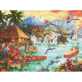 Island Life Cross Stitch Kit by Artibalt