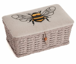 Linen Bee Woven Basket Sewing Box by Hobby Gift