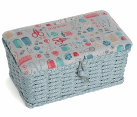 Stitch in Time Woven Basket Sewing Box by Hobby Gift