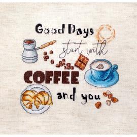 Coffee Time Cross Stitch Kit by Artibalt