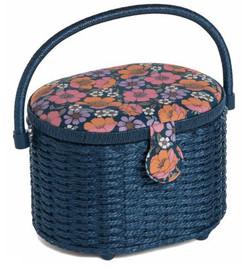 Garden Serenade Oval Wicker Basket Sewing Box by Hobby Craft