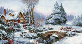 Winter Landscape Counted Cross Stitch Kit By Luca-S