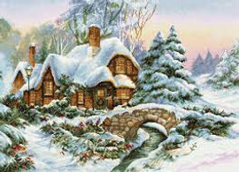 Winter Scene Counted Cross Stitch Kit By Luca-S