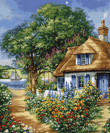 Summer Landscape Counted Cross Stitch Kit By Luca-S